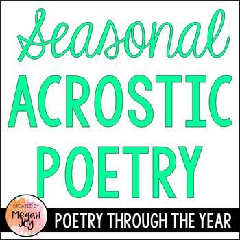 Months & Seasons Acrostic Poem Templates