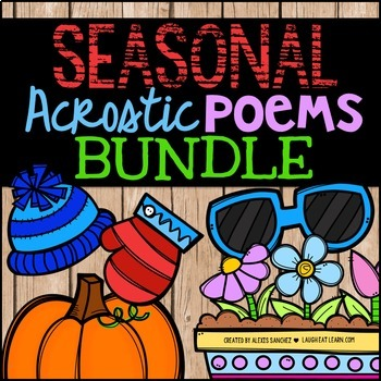 Seasonal Acrostic Poems {Bundle}