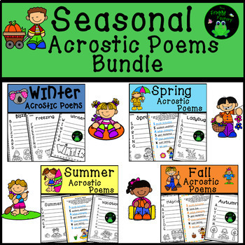 Seasonal Acrostic Poems Bundle