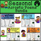 Seasonal Acrostic Poems Bundle - Seasonal Writing Activity
