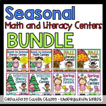 Seasonal Activities GROWING BUNDLE (Math and Literacy Centers)
