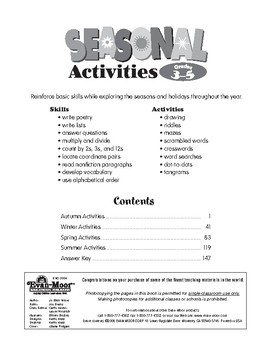 Seasonal Activities, Grades 3-5