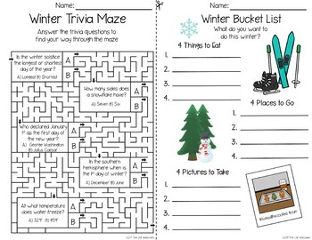 Seasonal and Holiday Activities for Older Kids - Fall Winter Spring Bundle