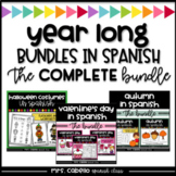 Year Long Activity Packs in Spanish - Growing Bundle