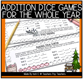 Addition Dice Games to Last Through The Year