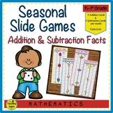 Addition & Subtraction Seasonal Slider Games
