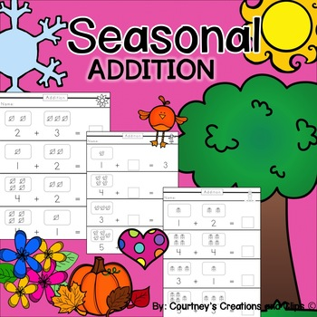 Seasonal Addition Worksheets