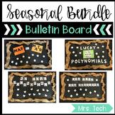 Seasonal Algebra 1 Bulletin Boards Bundle