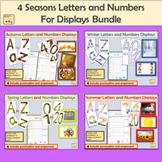 Seasonal Alphabet Lettering, Numbers Punctuation and Seaso