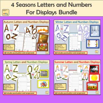 Seasonal Alphabet Lettering, Numbers Punctuation and Seasonal Photos Bundle