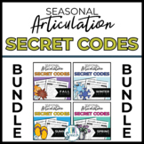 Seasonal Articulation Secret Codes (NO-PREP) - BUNDLE