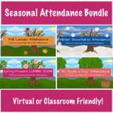 Seasonal Attendance Tracker Bundle | Morning Meeting | Vir