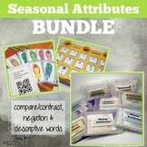 Seasonal Attributes Game BUNDLE: Compare/Contrast (with a Cariboo option!)