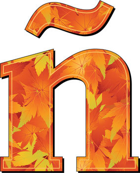 Seasonal Autumn Alphabet - Fall Colors - Digital Clip Art – Printable - Patterns