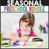Seasonal BUNDLE No Prep Worksheets, Winter Activities Preschool, Winter Math