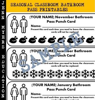 graphic regarding Bathroom Pass Printable titled Seasonal Lavatory P Printable [Editable Variation] / Clroom Manage Instruments