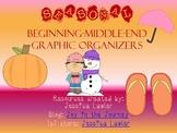 Seasonal Beginning-Middle-End Graphic Organizers FREEBIE