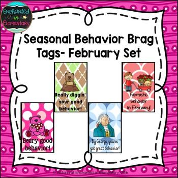 Seasonal Behavior Brag Tags- February Set