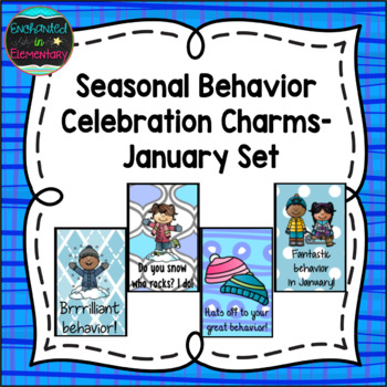 Seasonal Behavior Brag Tags- January Set