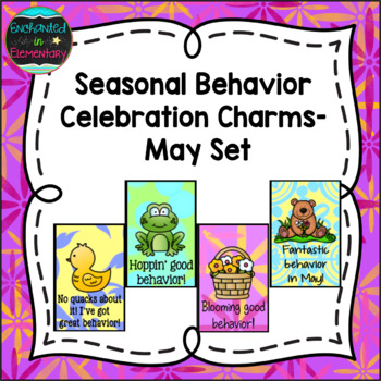 Seasonal Behavior Brag Tags- May Set
