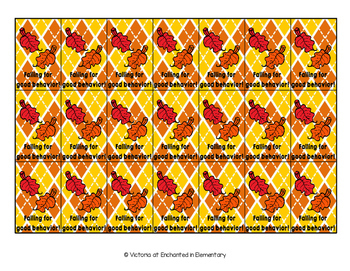 Seasonal Behavior Brag Tags- November Set