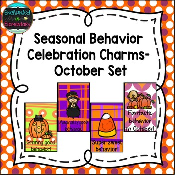 Seasonal Behavior Brag Tags- October Set