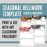 Seasonal Bell Work Template