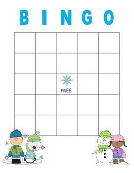 Seasonal Blank Bingo Cards