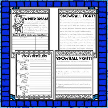 Seasonal Break Homework Packet BUNDLE - First Grade