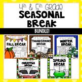 Seasonal Break Homework Packet BUNDLE - Fourth and Fifth Grade