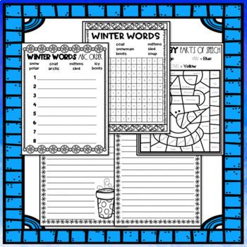Seasonal Break Homework Packet BUNDLE - Second Grade