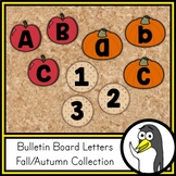 Seasonal Bulletin Board Letters - Fall/Autumn Theme