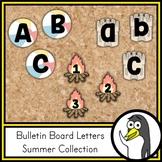 Seasonal Bulletin Board Letters - Summer Theme