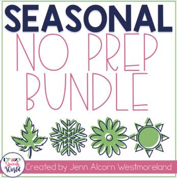 Seasonal Bundle NO PREP Activities for Speech Therapy!