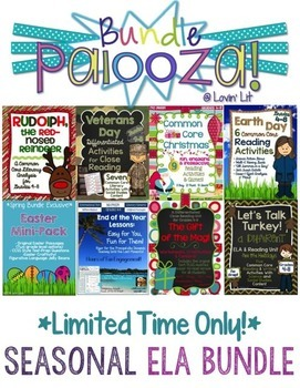 Seasonal Bundle for Grades 4-8 Reading & ELA ~ Bundle Palooza @ Lovin' Lit!