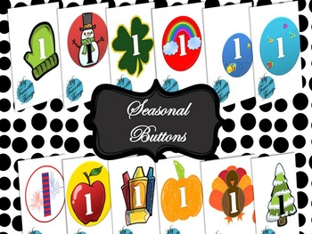 Seasonal Buttons