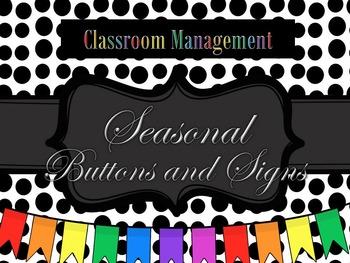 Seasonal Buttons