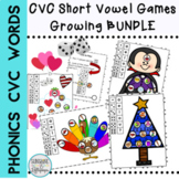 CVC Seasonal Games Short Vowel BUNDLE