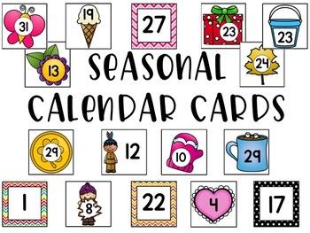 Seasonal Calendar Cards
