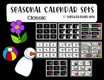 Seasonal Calendar Set   Classic   Classroom Organization