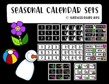 Seasonal Calendar Set | Fun | Classroom Organization