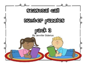 Seasonal Call Number Puzzles for Library Centers Pack 3