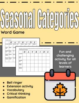 Seasonal Categories Game