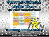 Seasonal Changes: Apple Tree - Summer Fall Winter Spring Thinking Links Activity