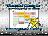 Seasonal Changes: Summer, Fall, Winter, and Spring Thinking Links Activity