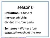 Seasonal Changes Unit Resources