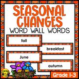 Seasons Word Wall Words- Editable