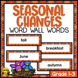 Seasons Word Wall Words- Editable