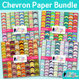 Seasonal Chevron Paper Bundle | Scrapbook Backgrounds for Winter, Spring, Fall