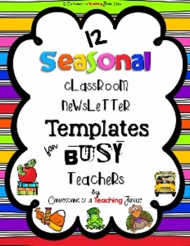 Seasonal Classroom Newsletter Templates for Busy Teachers